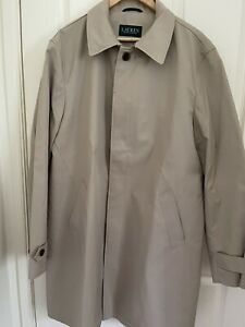 Lauren by Ralph Lauren Men's Trench Coat Beige Size 44L