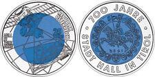 AUSTRIA OSTERREICH 25 EUROS 2003 NIOBIO Y PLATA PROOF - STADT HALL IN TIROL