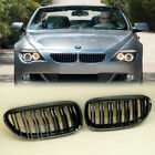 Shiny Black Front Grille For BMW E63 E64 LCI M6 Style 630 635 645 650