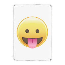 "Tongue Out Eyes Open Emoji Case Cover for Kindle 6"" E-reader - Funny Smiley Face"