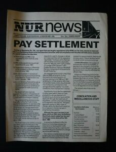 NUR - National Union of Railwaymen News - Pay Settlement 181 - 1983