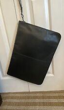 Genuine Leather  Canadian Black Document Holder Laptop Sleeve 40cmx30cm