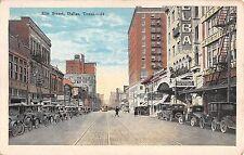c.1920 Stores Elm St. Dallas TX post card