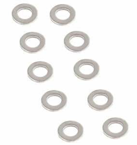 10 X Washer M10 din 125 Stainless Steel V2A Moped TZG