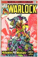 WARLOCK  #10  Marvel1975   feat Thanos Magnus VF+ 8.5