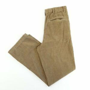 Vintage Corduroy Trousers Beige 30W 32L Regular Fit