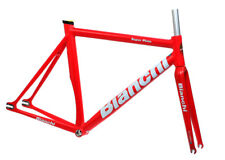 Bianchi Super Pista Frameset Satin Red 53cm Track Frame Carbon Fork NEW in Box