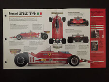 1979 FERRARI 312 T4 IMP Hot Cars Spec Sheet Folder Brochure RARE