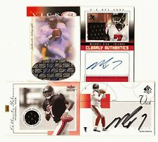 MICHAEL VICK AUTO AUTOGRAPH ROOKIE RC JERSEY PATCH LOT, 3 CERTIFIED AUTOGRAPHS