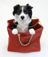 """Leonardo Resin Dogs Border Collie In Gift Bag """"Playtime"""""""