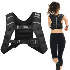 Costway 20 lbs Workout Weighted Vest Adjustable Buckle Sports Fitness Exercise