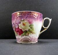 Vintage Victorian Age Floral Design Porcelain China Mustache Cup Shaving Mug