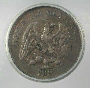 1892-PI,R 5 Centavos Silver ICG VF30 Condition KM#398.9  (344)