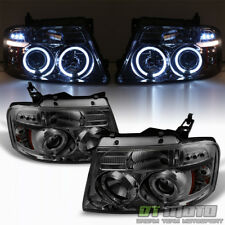 Smoke 2004-2006 Ford F150 LED Halo Projector Headlights 04 05 06 07 08 Headlamps