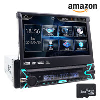 """7"""" Single 1DIN Car VCD DVD Player GPS Navigation Bluetooth HD Touch Stereo Radio"""
