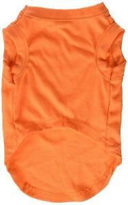 Mirage Pet Products 8-Inch Plain Shirts, X-Small, Orange
