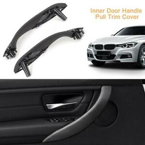 Inner Door Handle Pull Trim Cover Front Left+Right for BMW 3Series F30 F35 316