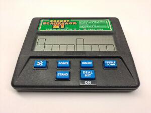 Radica Pocket Blackjack 21 Card Game Handheld Electronic 1450 VTG Free Shipping