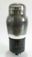 One 1946 RCA 6F6G power tube - Smoked Glass, Black P, Dimpled D-Foil Getter