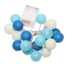20 LED Cotton Ball Christmas String Lights Xmas Wedding Party Garland Fairy Lamp