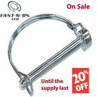 Snap Lock Pto Pin Round 2 Wire 38 X 1-12 Zinc Clear 50 Pcs Free Shipping