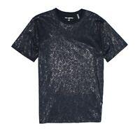 Karl Lagerfeld Mens Shirt Black Size XL Foil-Pattern Crewneck Tee $69 #425