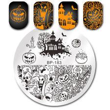 BORN PRETTY Stamping Plate Halloween Pumpkin Ghost Castle Nail Art Image Tip DIY