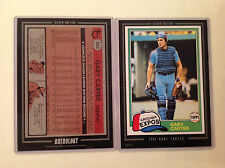1981 GARY CARTER RC EXPOS #660 METS 2016 Topps Anthology 5X7 Silver #ed/49 made