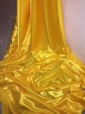 """3 M giallo brillante Fodera crepe di nuovo tessuto satinato... 58"""" Wide (nuovo in magazzino)"""