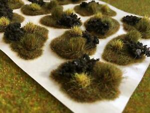 Autumn Scrub & Brush Dales Tuft Dioramas - Grass Tuft Model Scenery Terrain Base
