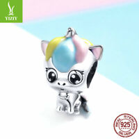 Women Authentic 925 Sterling Silver Accessories Cute little animals Charms Beads