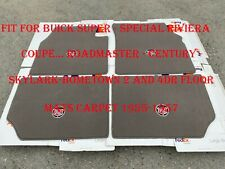 For Buick Super Special Riviera Roadmaster Century Skylark Carpet Mats 1955/57