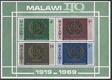 Malawi - Internationale Arbeitsorganisation postfrisch 1969 Block 13 Mi. 106-109
