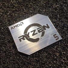 AMD RYZEN 5 CPU PC Logo Label Decal Case Sticker Badge SILVER [428]