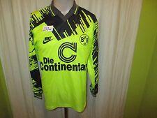 "Borussia Dortmund Nike Langarm Heim Trikot 1993/94 ""Die Continentale"" Gr.S- M"