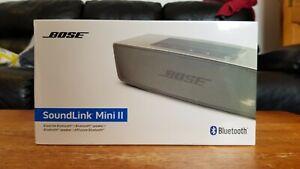 Bose Soundlink Mini II 2 Bluetooth Portable Speaker - Pearl/Silver (NEW, SEALED)