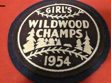 VINTAGE WILDWOOD SOFT BALL FABRIC PATCH 1954 GIRL'S WILDWOOD CHAPS 1954