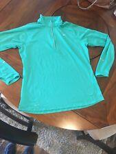 Nike Element 1/2 Zip Running Tennis Pullover Shirt Top Size Xl Green Euc