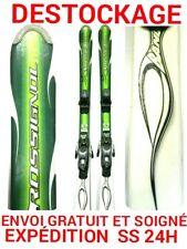"ski occasion enfant ROSSIGNOL ""BANDIT"" tailles:140cm et 150cm+ fixations"