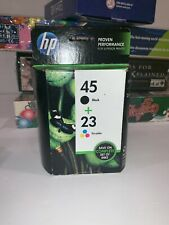 HP 45+23 Combo Pack Ink Cartridge  #C8790FN  Authentic New Sealed Expired 8/2013
