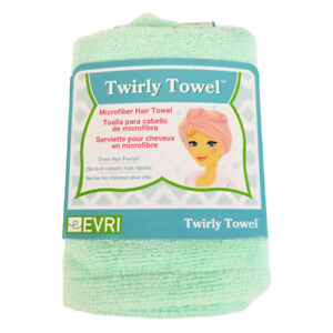 NEW IN PACKAGE Women's Twirly Towel Evri Mint Green Microfiber Hair Turban