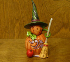 "Jim Shore Heartwood Creek Pint Size 4047840  PUMPKIN ""COME AS YOU AREN'T"" 5""Tall"
