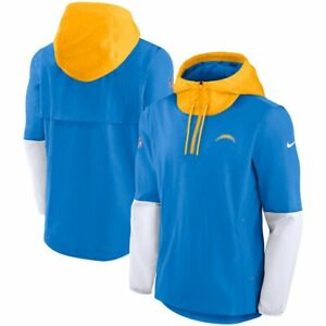 Brand New 2021 NFL Los Angeles Chargers Nike Sideline Player Quarter-Zip Jacket