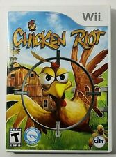 Chicken Riot  Nintendo Wii  2010 Complete with Manual