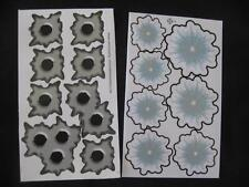 BULLET HOLE STICKERS/DECALS X 2 SHEETS (E)