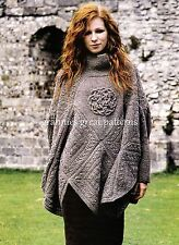 Gorgeous ladies CELTIC KNOT PONCHO  DK Laminated Knitting pattern
