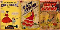Lot Of 3 KATE KEEN 22 34 53 SIlver Age Fairly Rare Archie Series