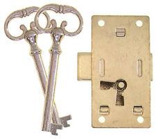 6537 Medium Steel Flush Mount Wardrobe, Cupboard Lock, No Mortise, Two Keys
