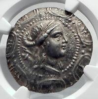 Amphipolis in MACEDONIA Ancient 167BC Silver Greek Tetradrachm Coin NGC i80624