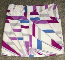 Adiddas Clima Cool Multi Color Geometric Patter Golf Skirt Womens Size 4